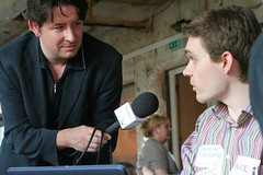 Nick being interviewed by smallbizpod