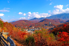 Gatlinburg in Fall (Micha67) Tags: city blue sky usa tree fall colors sunshine clouds landscape michael leaf tennessee micha gatlinburg fabulous picturesque gsm schaefer abigfave anawesomeshot theperfectphotographer greatsmokeymointains absolutelystunningscapes llovemypics