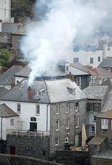 Smoke signals at Port Isaac