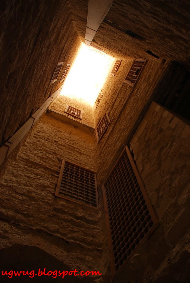Inside looking up - Citadel of Qaitbay, Alexandria
