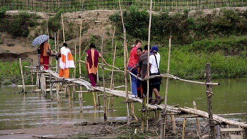 The Bamboo Bridge in the Chittagong Hill-Tracts