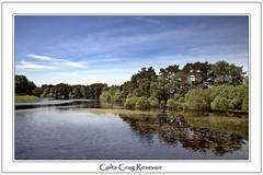 Colts Crag Resevoir (DDA / Deljen Digital Art) Tags: uk trees england sky cloud lake reflection nature water forest countryside woods scenery view wed northumberland resevoir freshwater coltscragresevoir grassembankment