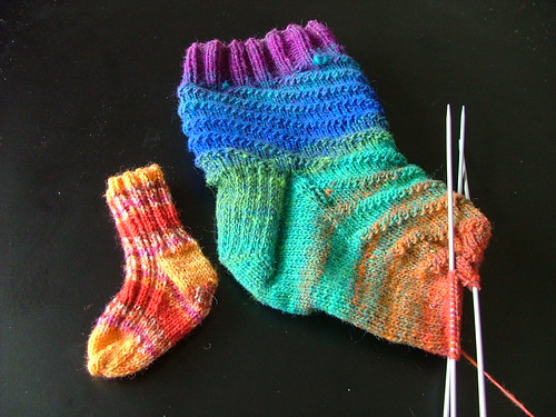 Noro RPM WIPs and Bitty Sock!
