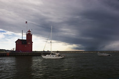 ApproachgStrm9919 (ETCphoto) Tags: lighthouse holland michigan lakemichigan approachingstorm michiganthunderstorms lakemacataw hollandharborlighthouse