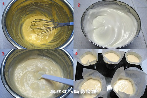 Cake Baked in Paper Procedures紙包蛋糕製作圖