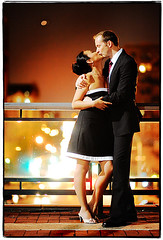 Red Light District (Ryan Brenizer) Tags: nyc newyorkcity wedding red woman man love groom bride engagement lowlight nikon kiss glow legs bokeh harlem july noflash gothamist columbiauniversity 2008 vampires d3 morningsideheights 85mmf14d vampyres evaandcris american