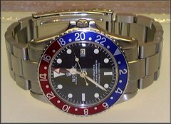 1963 Rolex GMT Master 1675 (char1iej) Tags: watches steel ss crown wristwatch oyster chronometer rolex 1963 pointed gmt bezel superlative privatecollection 1675 oysterperpetual twinlock 16750 acryliccrystal rolexwatch gmtmaster charliej crownguards pepsidial fliplock pepsigmt