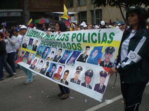 Marcha 20 de julio - Libertad para los policías secuestrados