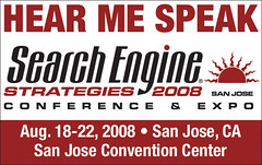 Hear me speak badge - SES San Jose 08