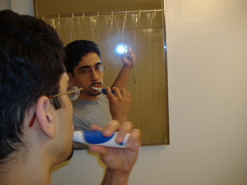 ...And now we're brushing our teeth, this is part of the foreplay...