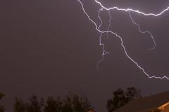 Lightning across the street (Trevor Robertson) Tags: sky storm rain edmonton lightning canadathunderstorms