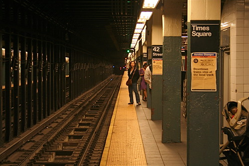 Times Square, Subway; Waiting for the Train