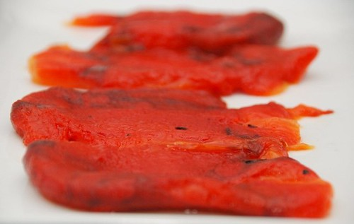 roasted red peppers plate