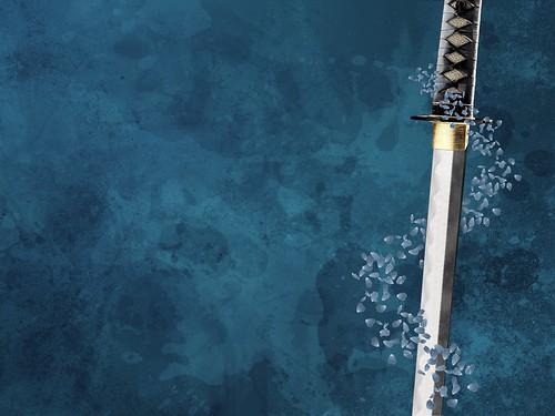 [フリー画像] グラフィックス, イラスト, 物(イラスト), 剣・刀, ブルー, 201007011900