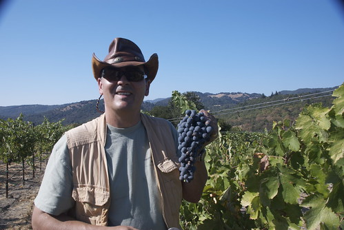 Its early in the harvest. Which is why Andy is still smiling!