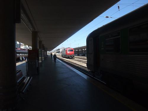 Comboios à chegada