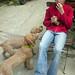 Thomas Valenti and puppies