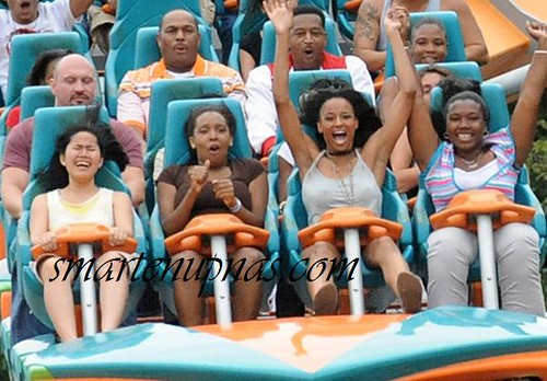 ciara gets her own roller coaster ride