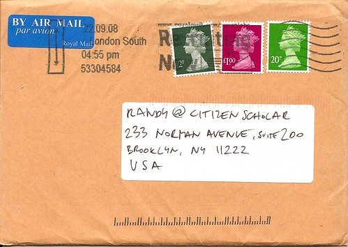 An envelope from Luke Wolagiewicz