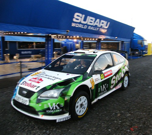Valentino Rossi at Wales Rally GB WRC in Swansea. by SARK S-W.