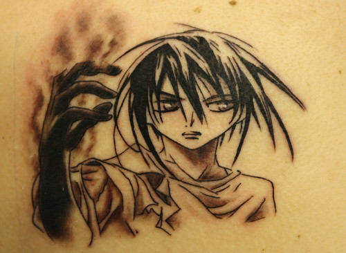 manga-tattoo by The Tattoo Studio. Tattooed by Ray at The Tattoo Studio,