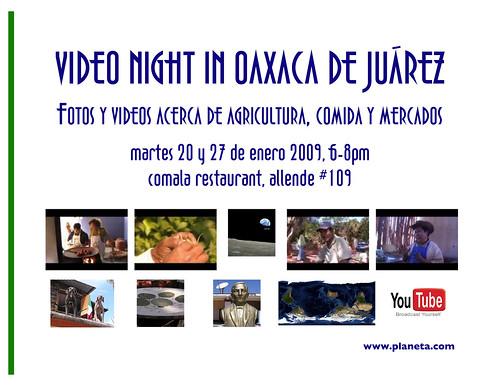 video night in oaxaca