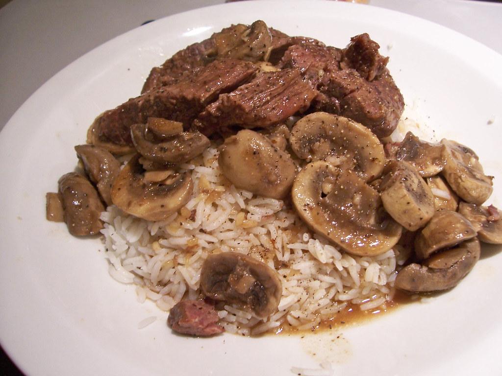 Scott's beef in mushroom sauce