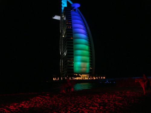 Burj at night