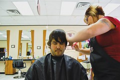 The Shearing (Account moved to http://flickr.com/codooaustin) Tags: haircut motion austin d50 video nikon texas time houston stop cody trim lapse shearing the codooaustin