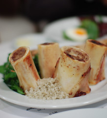 Roast Bone Marrow & Parsley Salad