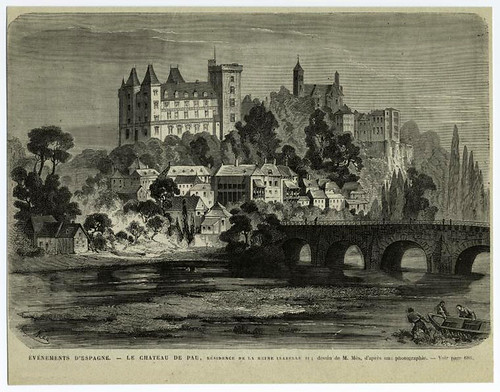 014- Castillo de Pau residencia de la reina Isabel II 1868