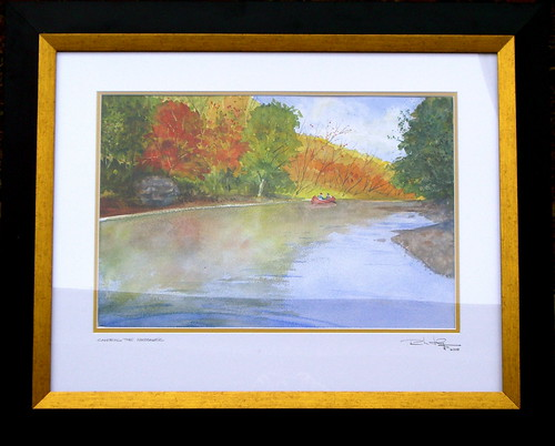 Watercolor Painting - Canoeing the Meramec