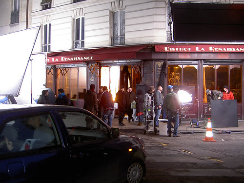 tournage inglourious basterds paris set 5