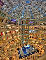 Vertigo Mall (NeilsPhotography) Tags: mall asia malaysia shoppingmall kl 1022mm hdr lucis openspaces ultrawideangle pannorama aplusphoto overtheexcellence goldstaraward hdrpannorama hdrpannos
