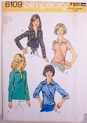 Vintage Simplicity Pattern 6109 Set of Blouses Front-Wrap Style and Front Opening Slashed, Size 12, Bust 34 (Sassy By Design) Tags: she vintage flickr pattern sewing blouse international cast 70s etsy size12 sewingpatterns bust34 sassybydesign waist265 hip35 simplicity6109 frontwrapblouse