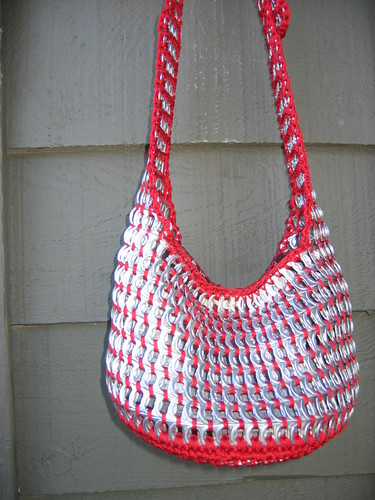 Red Pull Tab Tote by Pop Top Lady.