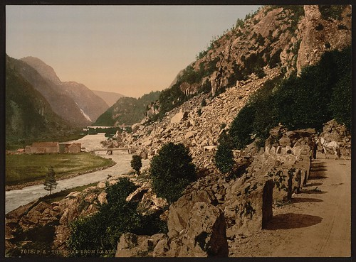 [On the road from Laatefos to Odde, Hardanger Fjord, Norway] (LOC)