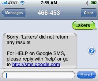 Google SMS FAIL