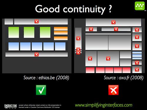 Gestalt - Good continuity example
