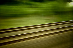 riding the bullet at 200mph... (nicholei.) Tags: travel vacation paris france window train germany europe view ride weekend frankfurt eu tourist crosscountry transportation commute express deutschebahn 1001nights intercity eurotour sidetrip 200mph eyegrabber platinumheartaward