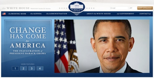 Barack Obama White House Website & Blog