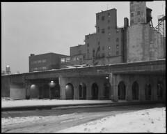 ogden overpass (Ben Syverson) Tags: bridge blackandwhite bw chicago industry film illinois industrial tmax 8x10 tmax400 kodaktmax400 largeformat westtown riverwest ogdenave petergowland gowland autaut gowlandlite8x10 fuji300c fujinonc300mmf85