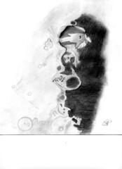 Cratere lunare Arzachel (emanuelaponzi) Tags: disegno astronomico