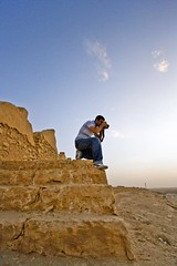 Nasser 2 (CristalArt) Tags: old blue white colors yellow stone stairs digital photoshop canon lens dessert photography raw angle wide structures super east experience middle riyadh 1022mm nasser citywall ksa diriyah