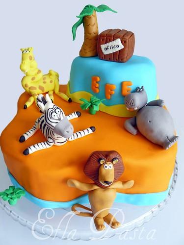 madagascar cake 1