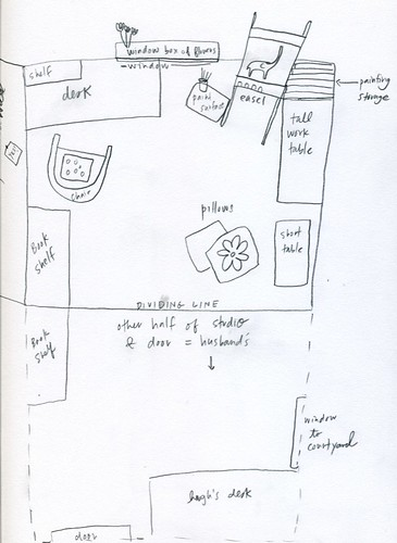 a sketch i found i drew of my studio plans