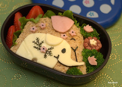 Me and My Mom (bentomom) Tags: elephant spring sandwich bento lunchbox bentobox obento kidsmeal charaben kyaraben
