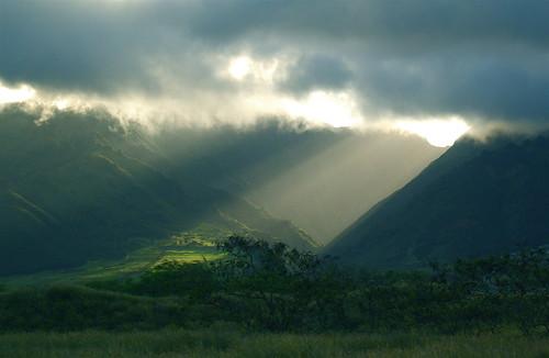 フリー写真素材, 自然・風景, 山, 日光・太陽光線, ハワイ州,