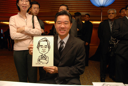 caricature live sketching for Great Eastern Achievers Nite 2011 - 2
