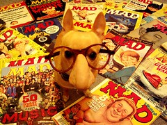 I puppy-trained Floyd on Mad Magazines (EllenJo) Tags: dog chihuahua silly home night vintage comics collection groucho disguise maddog digitalcamera mad floyd 2008 digitalimage madmagazine dogindisguise ellenjoroberts ellenjdroberts ellenjocom